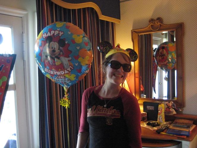 Lexie had a singing balloon
