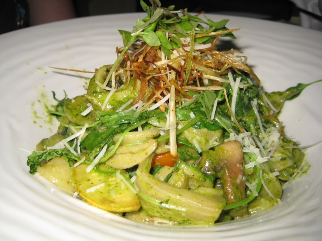 Lexie's pasta dish at Flying Fish (it was DELISH!)
