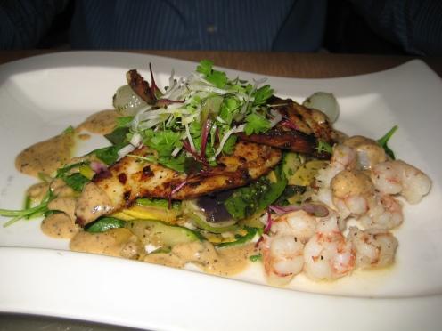 David's fish and shrimp dish