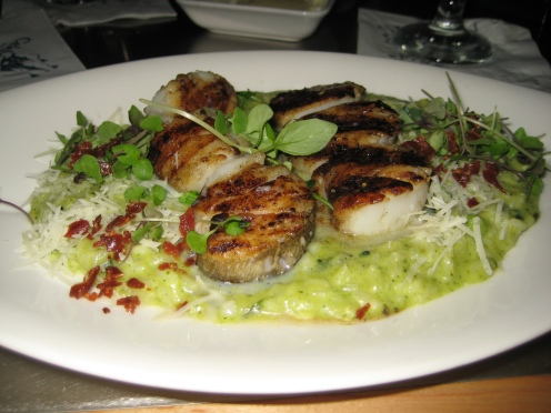My dish: Dover Scallops and Risotto (YUMMY!!!)