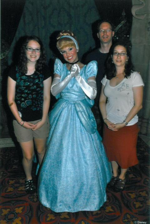 This was taken our first night right before dinner at Cinderella's castle.
