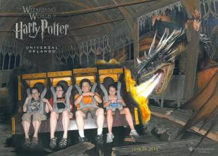 This was the Forbidden Journey from Harry Potter's theme park.