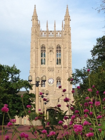 Lovely clock tower on Lowry Mall