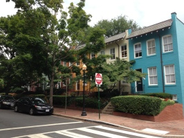 These are row houses owned by the university and lived in by the students.