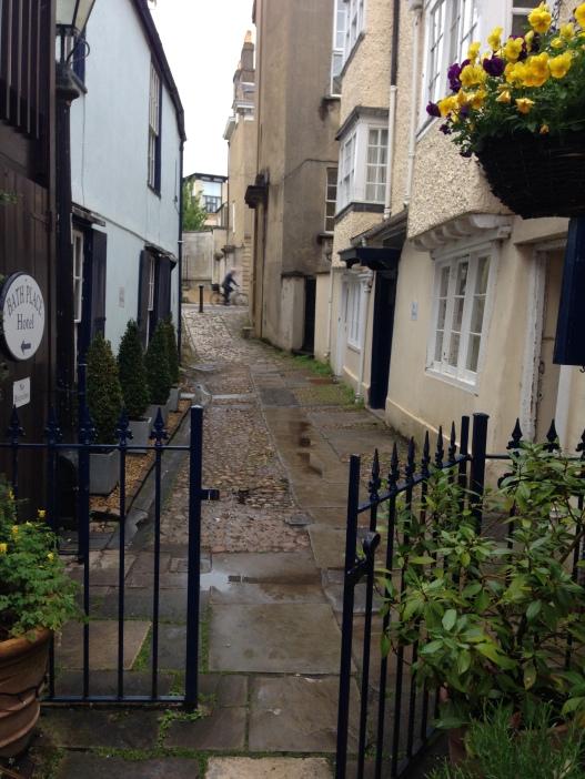 Cobblestone streets of Oxford, England