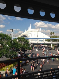Space Mountain as seen from the PeopleMover