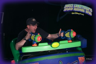 Riding the Buzz Lightyear ride