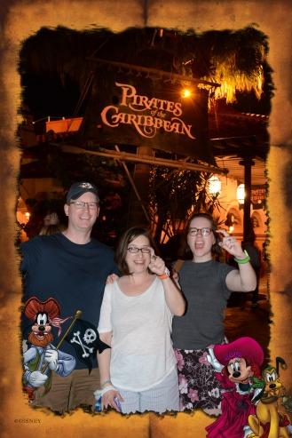 Near the Pirates ride