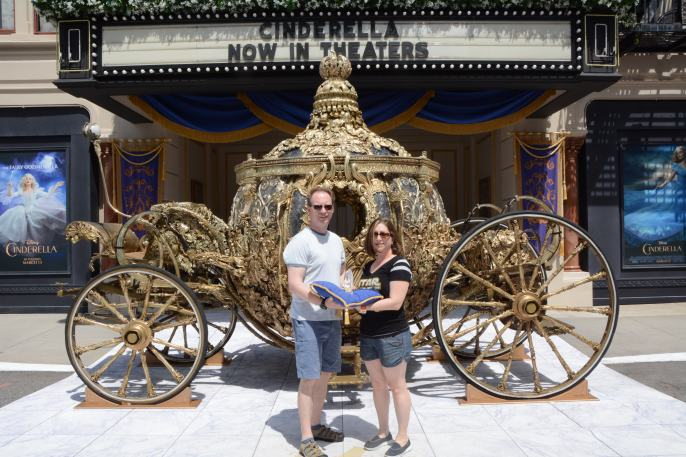 The real carriage used in the Cinderella movie!