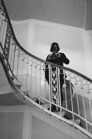 Our daughter taking a photo of the stairs - - Photo by Z. Dodge