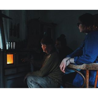 Learning how to light the fire with host Rainier - Photo by G.Evans