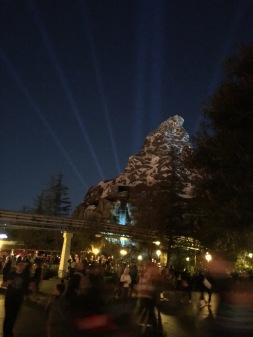 The Matterhorn at night.