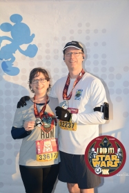With our 10K medals!