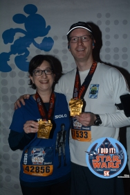 Getting our 5K medals