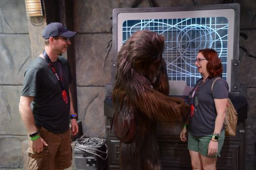 Chewie did NOT like our medals